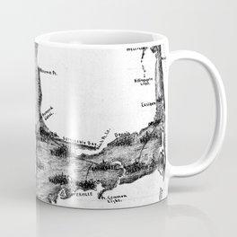 Vintage Map of Cape Cod (1885) BW Coffee Mug