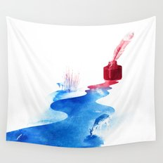 The drama of causality Wall Tapestry