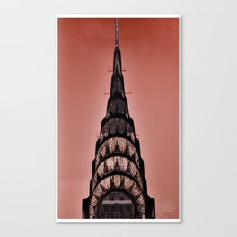 Chrysler in Red Canvas Print