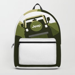 Jeep 'Driving' Green Mountain Backpack