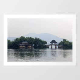 Hangzhou Lake Art Print