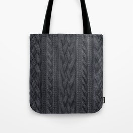 Charcoal Cable Knit Tote Bag