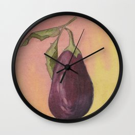 Aubergine Wall Clock