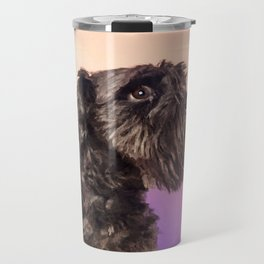 Miniature Schnauzer Portrait Gentle Pastel Travel Mug
