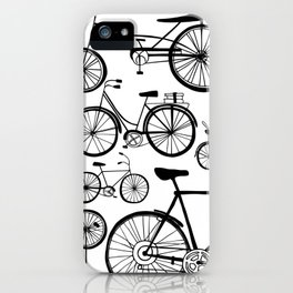 Bicycle Art Black and White - Bikes iPhone Case