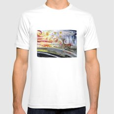 Border Mens Fitted Tee MEDIUM White