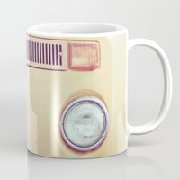 vw bus Mugs featuring vw by shannonblue