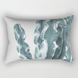 Cacti in Blue Rectangular Pillow