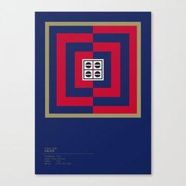 Cagliari Calcio geometric logo Canvas Print
