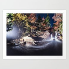 Panoramic Flow Art Print