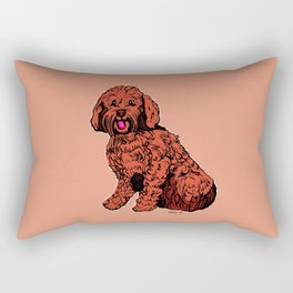 Labradoodle Illustration Rectangular Pillow