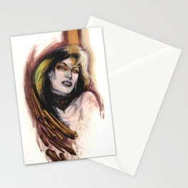 Girl with Bones by Baxa Stationery Cards