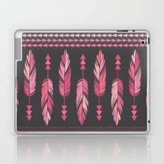 Painted Feathers-Gray Laptop & iPad Skin