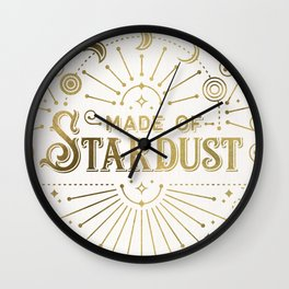 Made of Stardust – Gold Palette Wall Clock