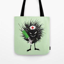 Evil Bug Nurse With Syringe Tote Bag