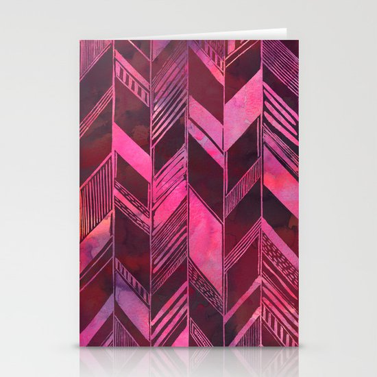 PATTERN {chevron 007} Stationery Cards