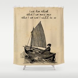 Ernest Hemingway - The Old Man and the Sea Shower Curtain