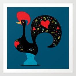 Good Luck Rooster Art Print