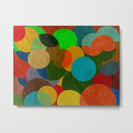 bubbles on paper pattern Metal Print