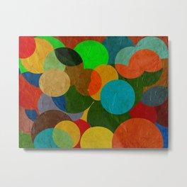 bubbles on paper pattern Metal Print