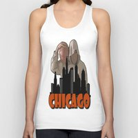 sports Tank Tops featuring CHICAGO SPORTS  by Robleedesigns