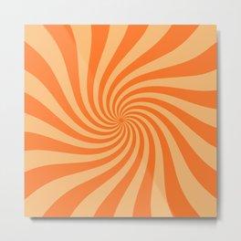 Pumpkin Swirl Metal Print