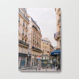 Parisian Street II Metal Print
