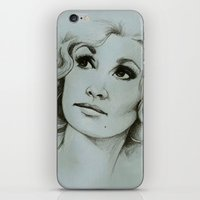 dolly parton iPhone & iPod Skins featuring Dolly Parton by Talula Christian