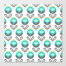 Pop Flora Canvas Print
