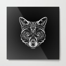 Fox Ornate Metal Print