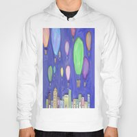 hot air balloons Hoodies featuring hot air balloons by Kaylabeaisaflea