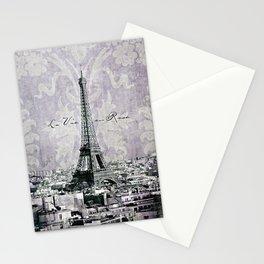 romantic Paris violet Stationery Cards