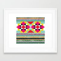 ethnic Framed Art Prints featuring Ethnic by Maria Blanco