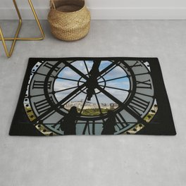 Giant glass clock at the Musée d'Orsay - Paris Rug