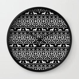 Corgi fair isle silhouette christmas sweater dog gifts corgis welsh corgi dog Wall Clock