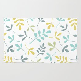 Assorted Leaf Silhouettes Color Mix Rug