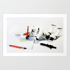 Drawing Droids Art Print