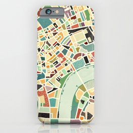 CITY OF LONDON MAP ART 01 iPhone Case