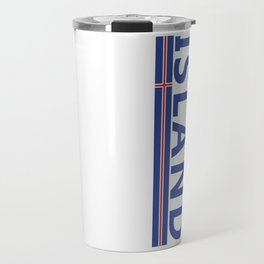 Island Sports Fan Athletic Iceland Design Travel Mug