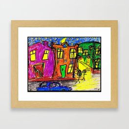 We live in the City Framed Art Print