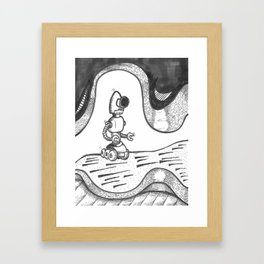 Robot in Space Framed Art Print
