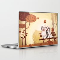 camus Laptop & iPad Skins featuring Wind of October by Alessandra Fusi