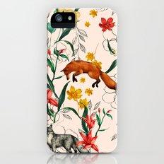 Floral Fox iPhone SE Slim Case