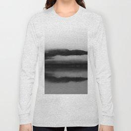 Black and White Alaska Photography, Enchanted Isle Long Sleeve T-shirt