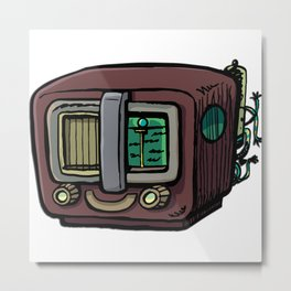 Old Radio Orion Metal Print
