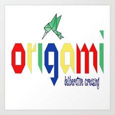 Origami: Deliberative Creasing Art Print