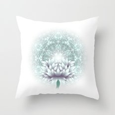 Tibet. Sacred geometry. Flower of Life Throw Pillow