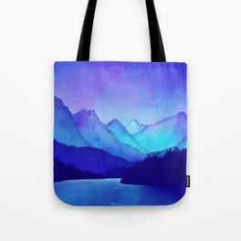 Cerulean Blue Mountains Tote Bag