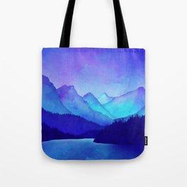 Cerulean Blue Mountains Tote Bag