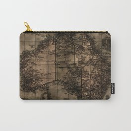 Vintage Map of Australia Carry-All Pouch